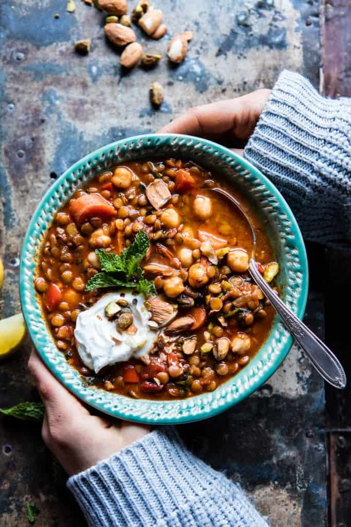 Monday: Crockpot Moroccan Lentil and Chickpea Soup