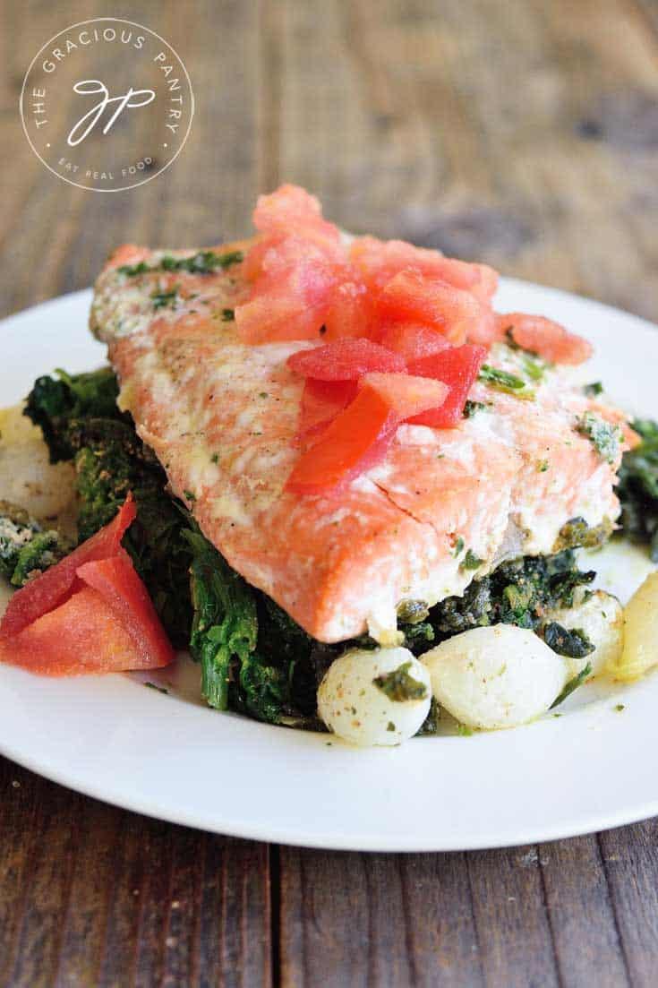 Thursday: Sheet Pan Salmon Florentine Recipe