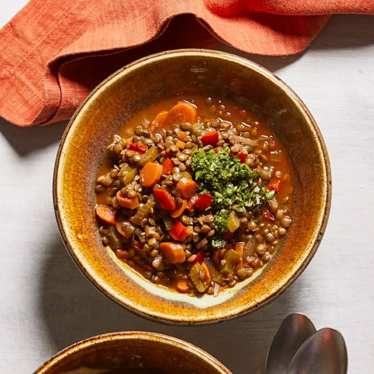 Tuesday: Chilean Lentil Stew with Salsa Verde