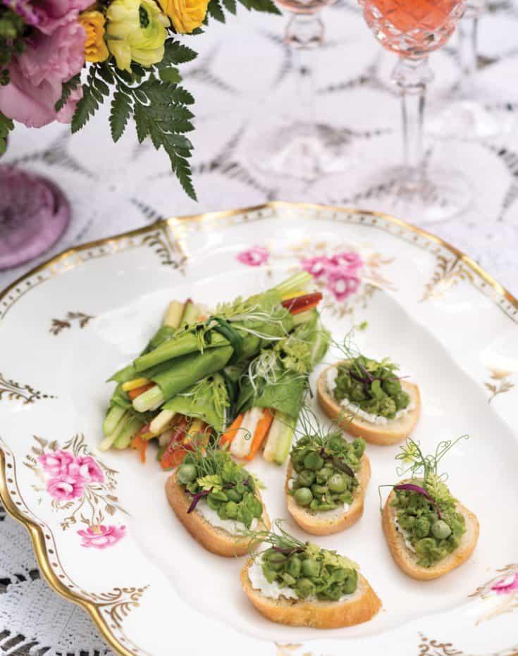 Vegetable Spring Rolls with Lemon-Herb Vinaigrette