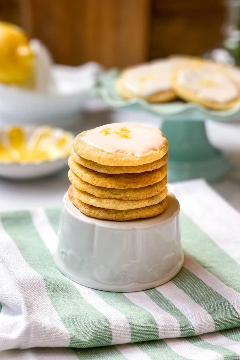 Stacked Lemon Tea Cookies