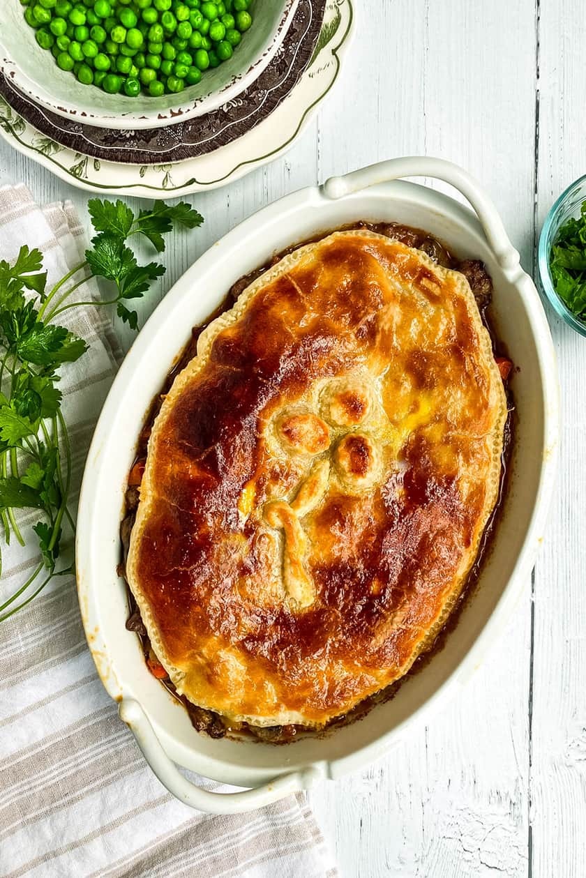 Baked Irish Cottage Pie with Parsley
