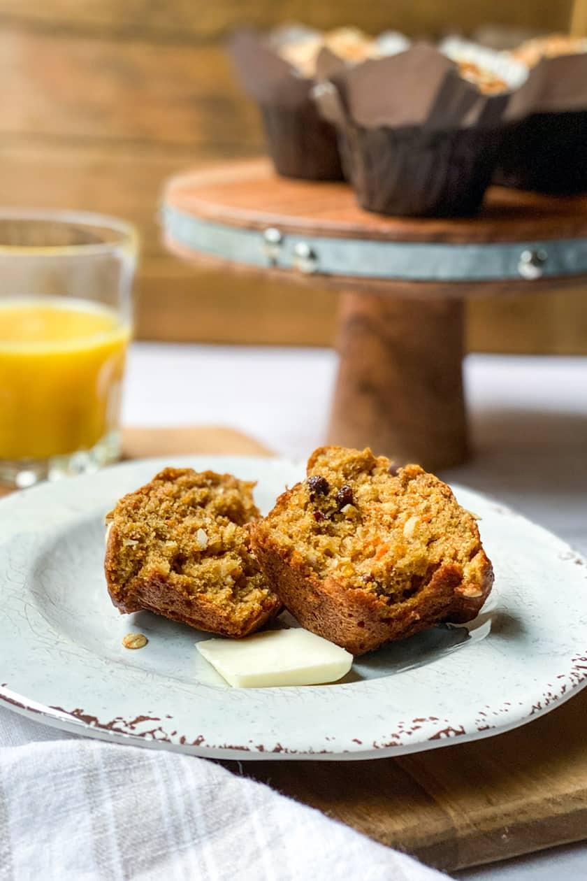 Cut open Morning Glory Muffin