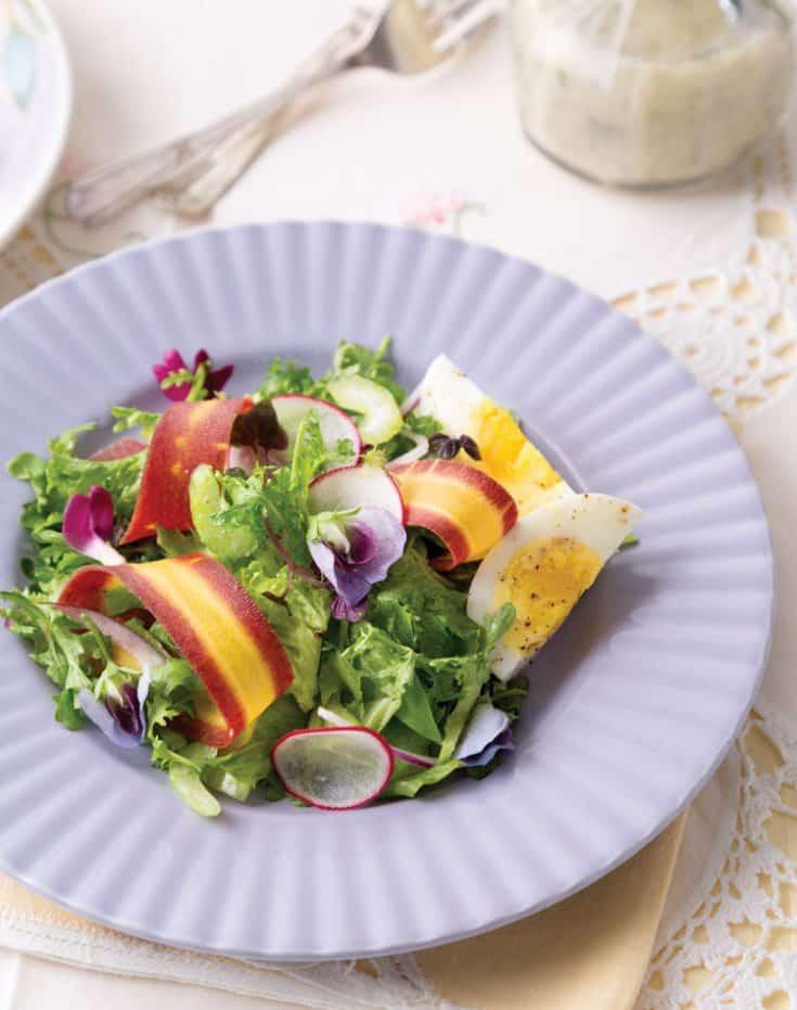 Spring Salad with Creamy Parmesan Vinaigrette