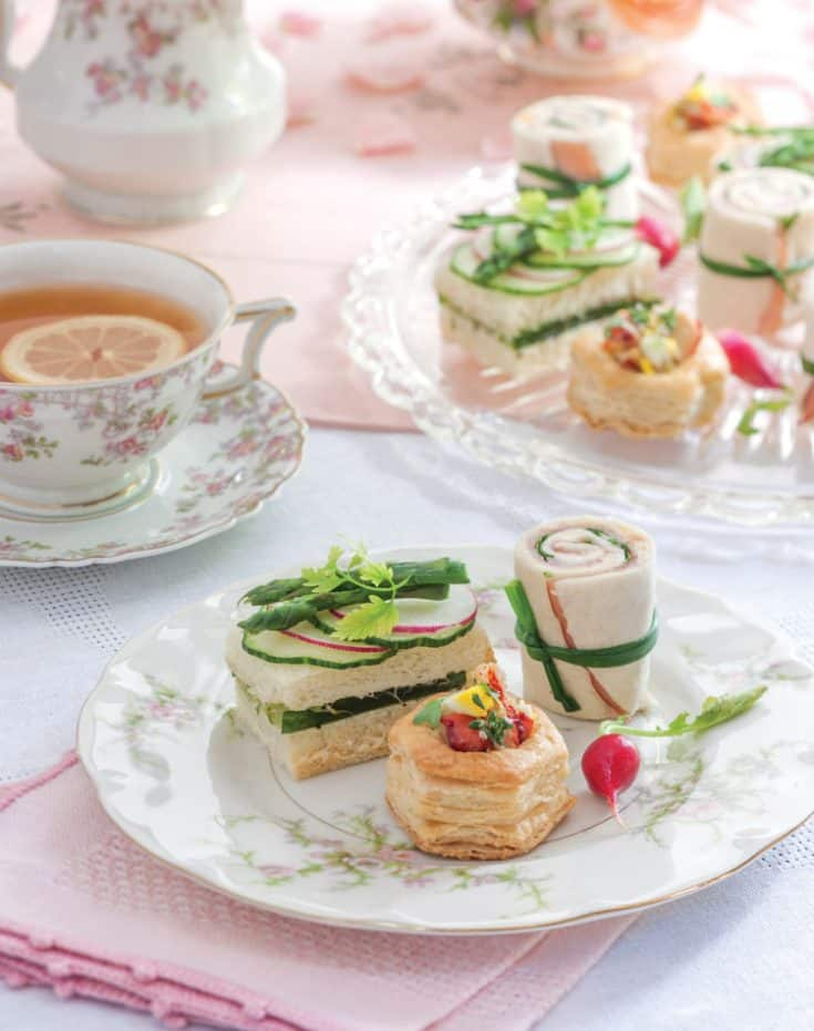 Cucumber Tea Sandwiches with Herb Aïoli