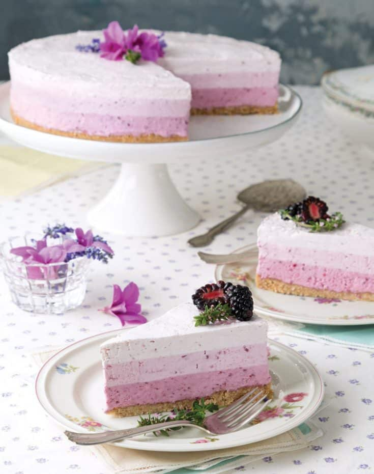 Ombré Berry-and-Yogurt Torte
