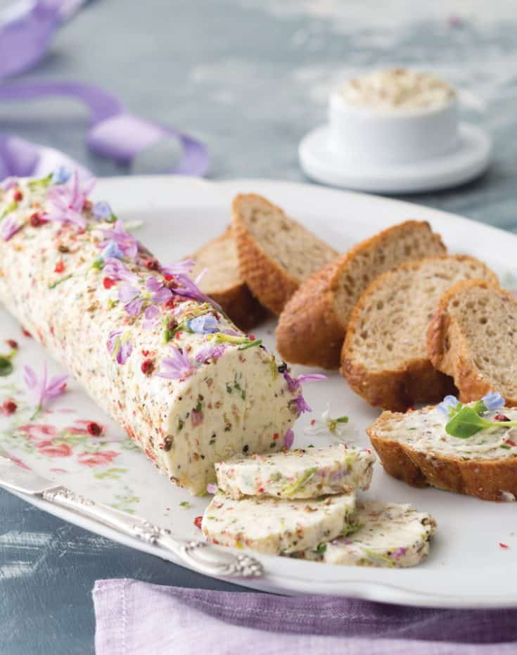 Tea Sandwiches with Edible-Flower Compound Butter