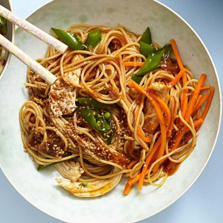 Wednesday: Sesame Noodles with Chicken
