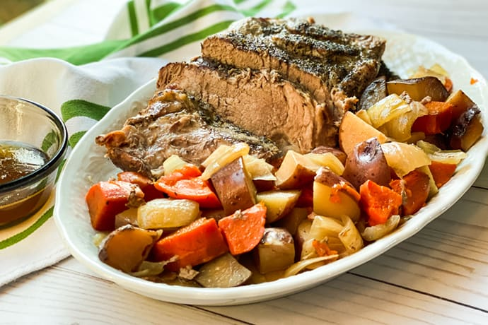 4 Ingredient Italian Slow Cooker Pork Roast