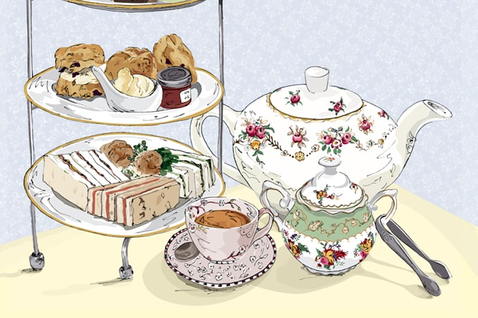 An Easy Spring Afternoon Tea