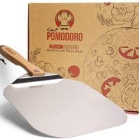 Metal Pizza Peel with Foldable Wood Handle