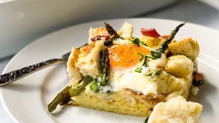 Make Ahead Ham and Asparagus Strata Recipe