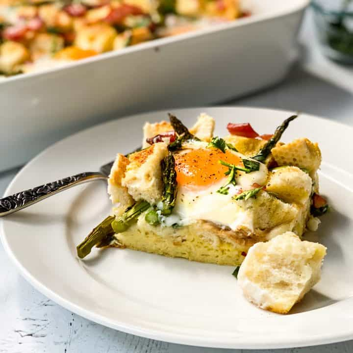 Make Ahead Ham and Asparagus Strata Recipe