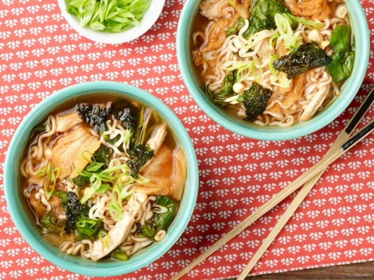 Wednesday: Chicken, Corn and Kimchi Ramen
