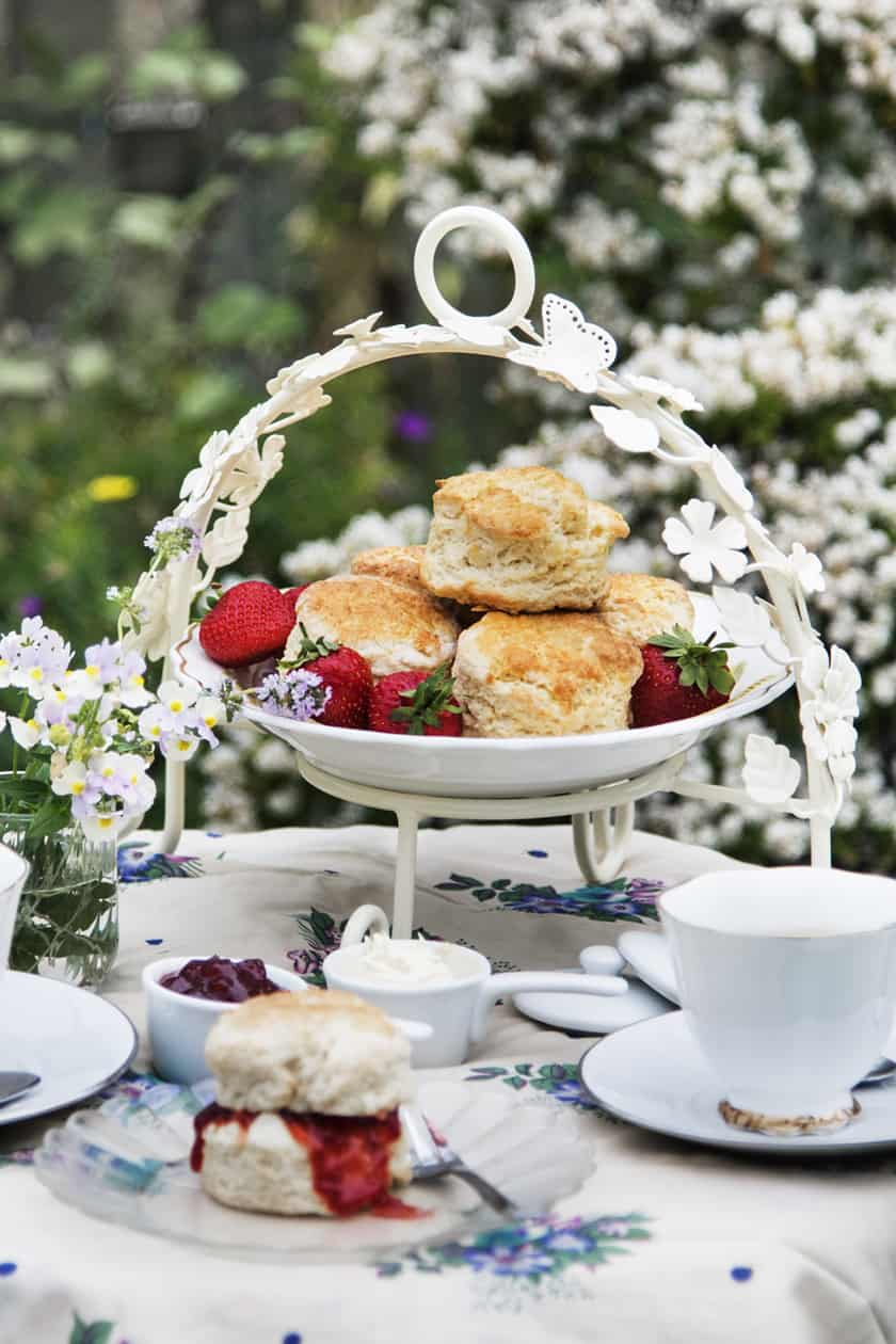 Scones on a White Plate