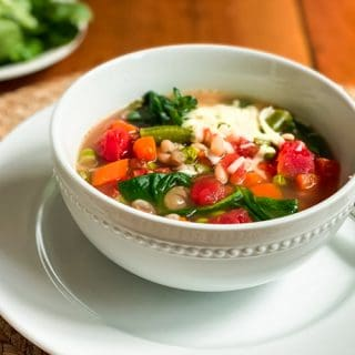 5 Minute Vegetarian Instant Pot White Bean Soup