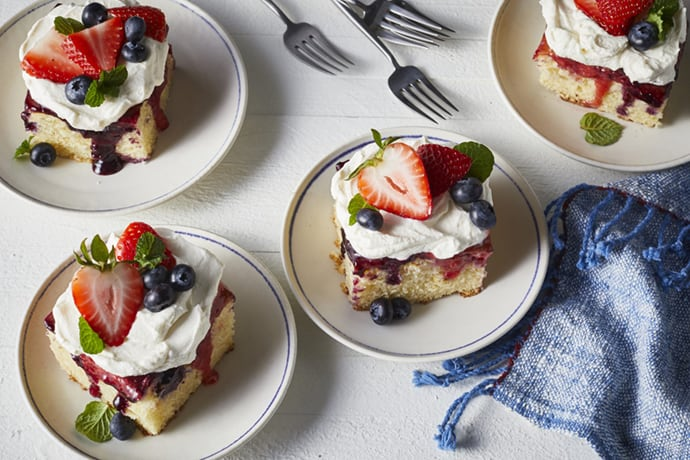 Summer Berry Poke Sheet Cake Recipes
