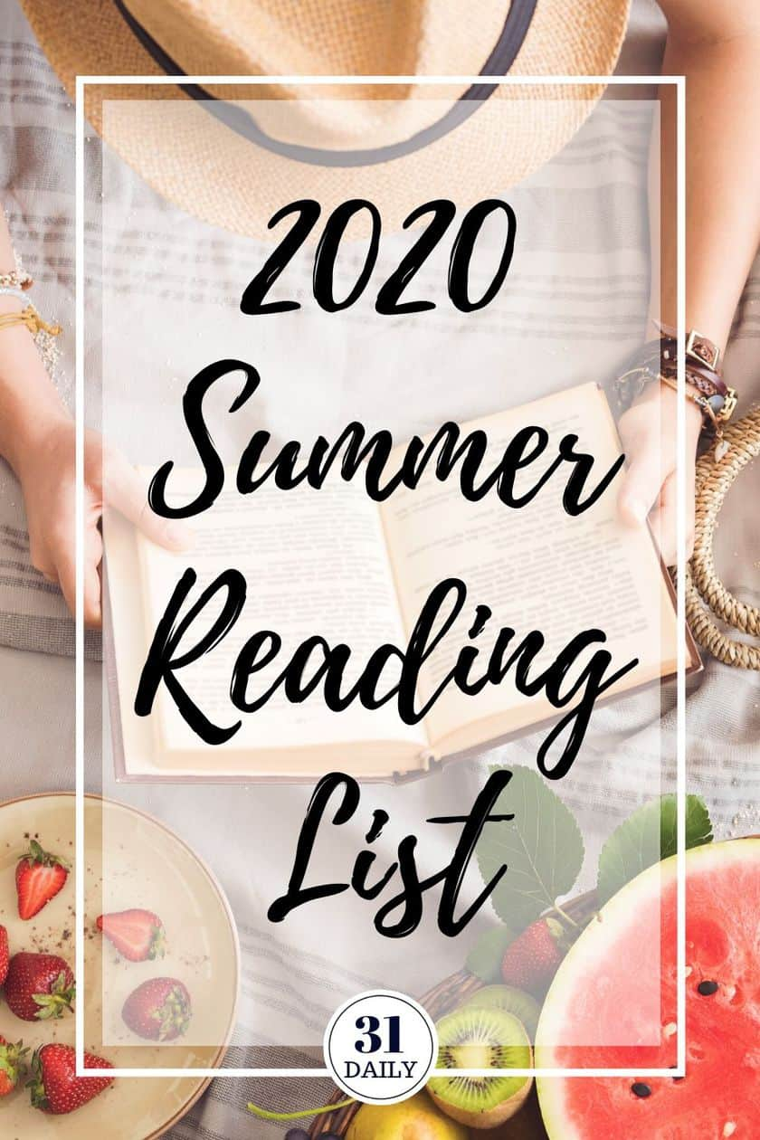 Pinterest Pin for 2020 Summer Reading List