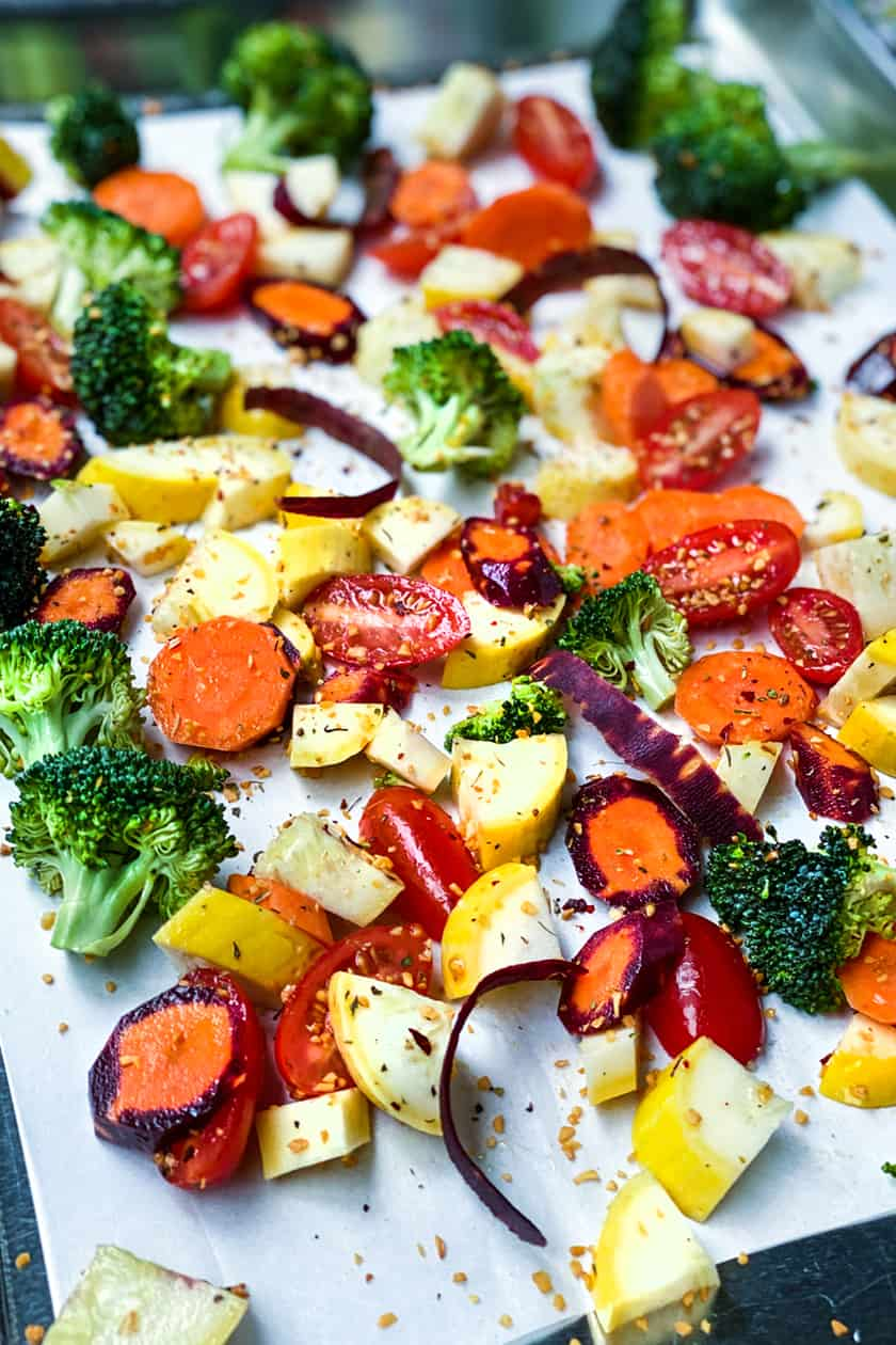 Sheet Pan Vegetables for6 Super Easy Recipes with Weber Seasoning