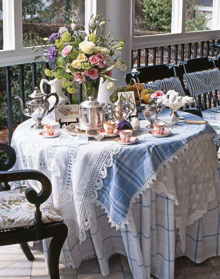 An Outdoor Afternoon Tea Table