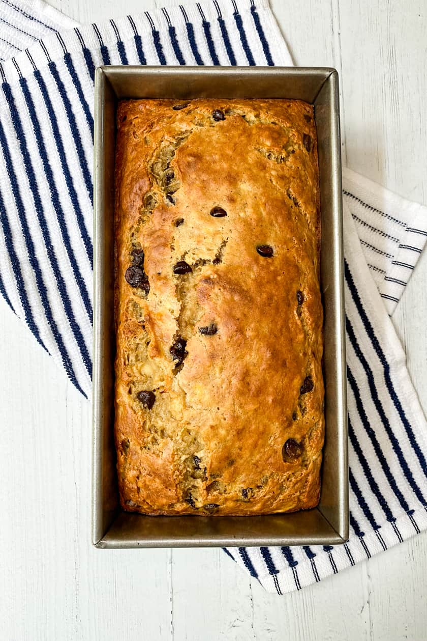 Baked Greek Yogurt Banana Bread in Loaf Pan