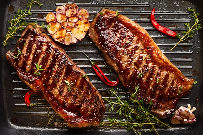 Grilled Steak basted in Favorite Steak Marinade