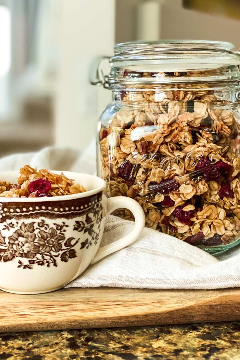 Healthy Granola Ready for Breakfast