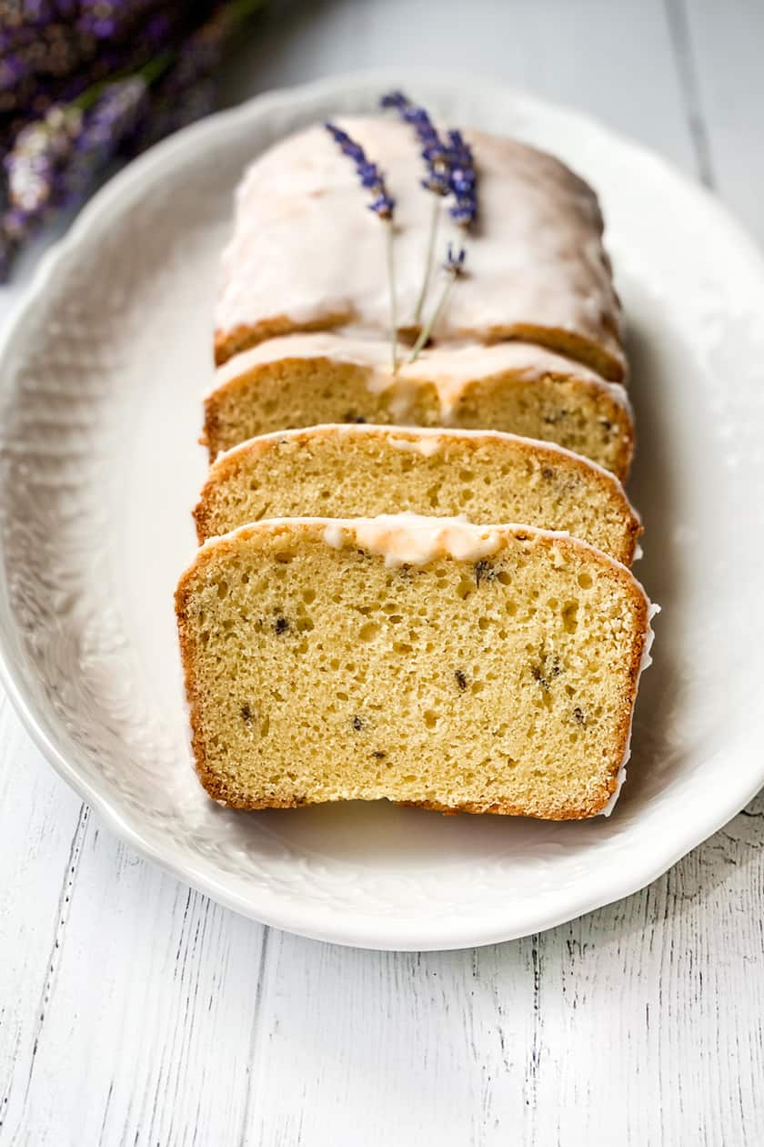 Sliced Lavender Tea Bread