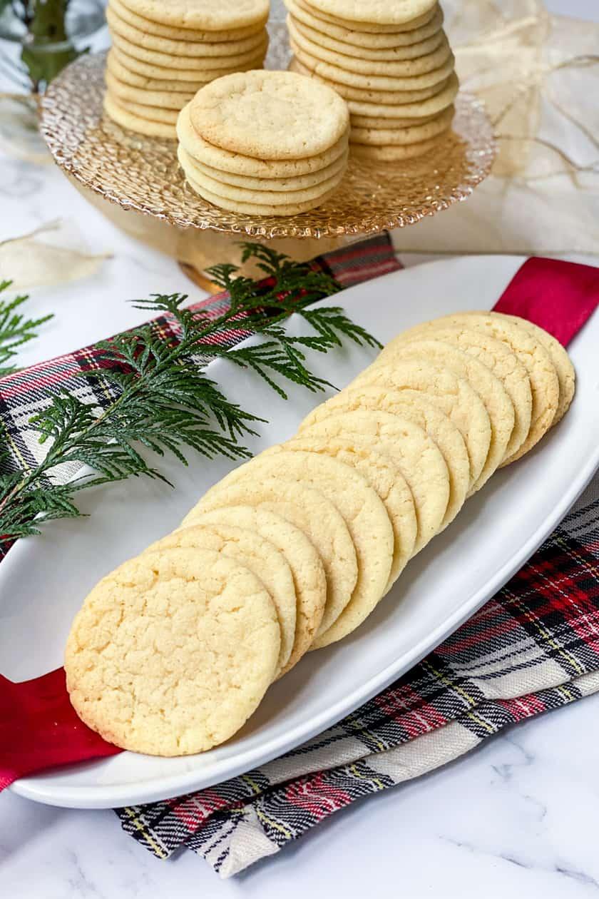 Vanilla Tea Cake Cookies Served as Christmas Cookies
