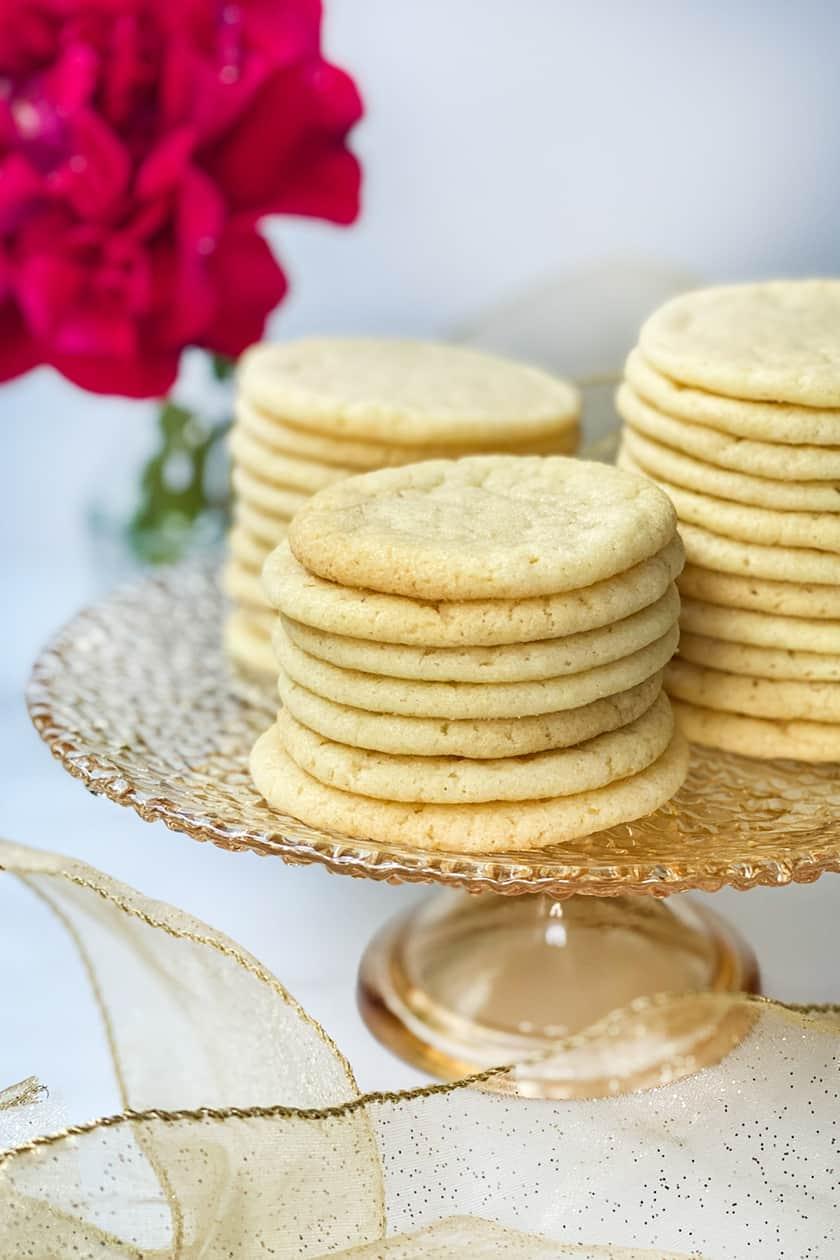 Top view of Vanilla Tea Cake Cookies
