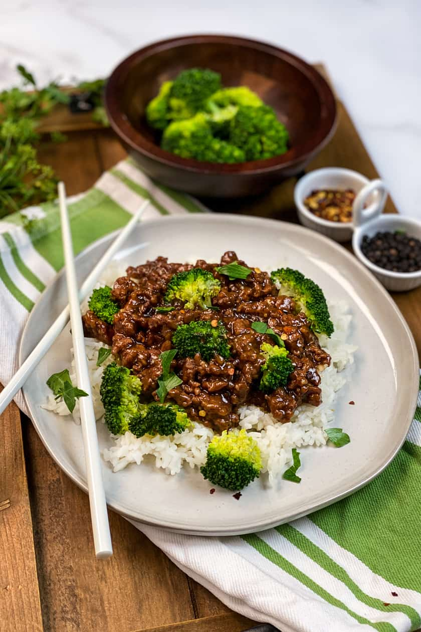 Closeup of Instant Pot Beef and Broccoli