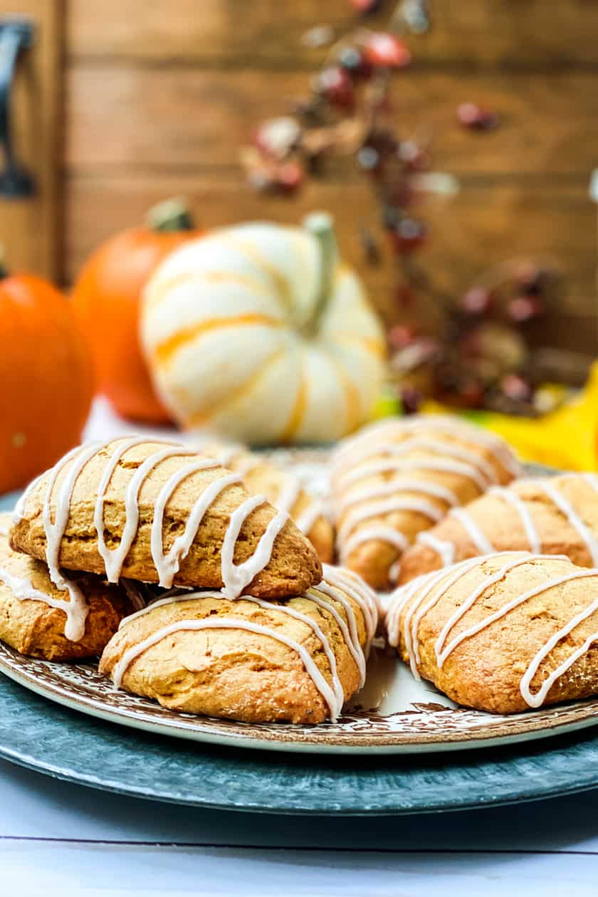 Side view of Pumpkin Scones