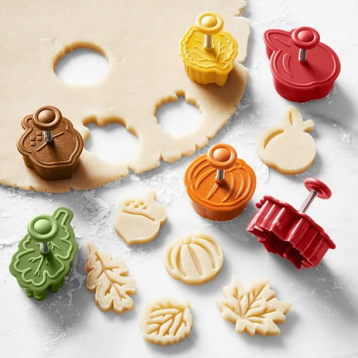 Williams Sonoma Fall Pie Punches, Set of 6