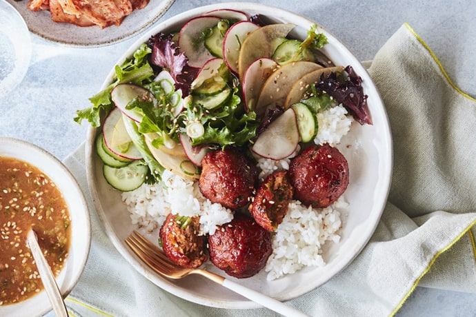 Korean Meatball Rice Bowl forFall 30 Minute Dinners: What to Cook (Sept 21)