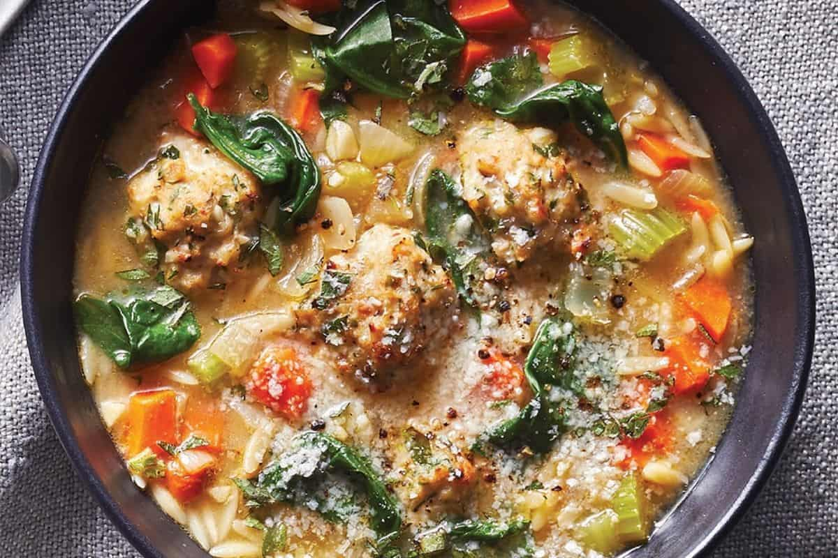 Easy Mexican Wedding Soup in a Black Bowl for Easy November Dinners: What to Cook (Nov 2)