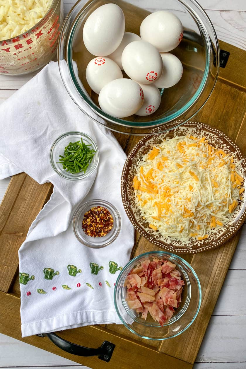 Ingredients for Easy Hashbrown Breakfast Casserole Recipe