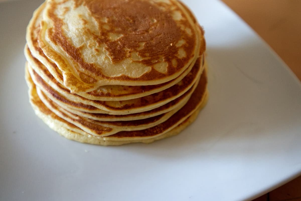 Top view of Banana Protein Pancakes