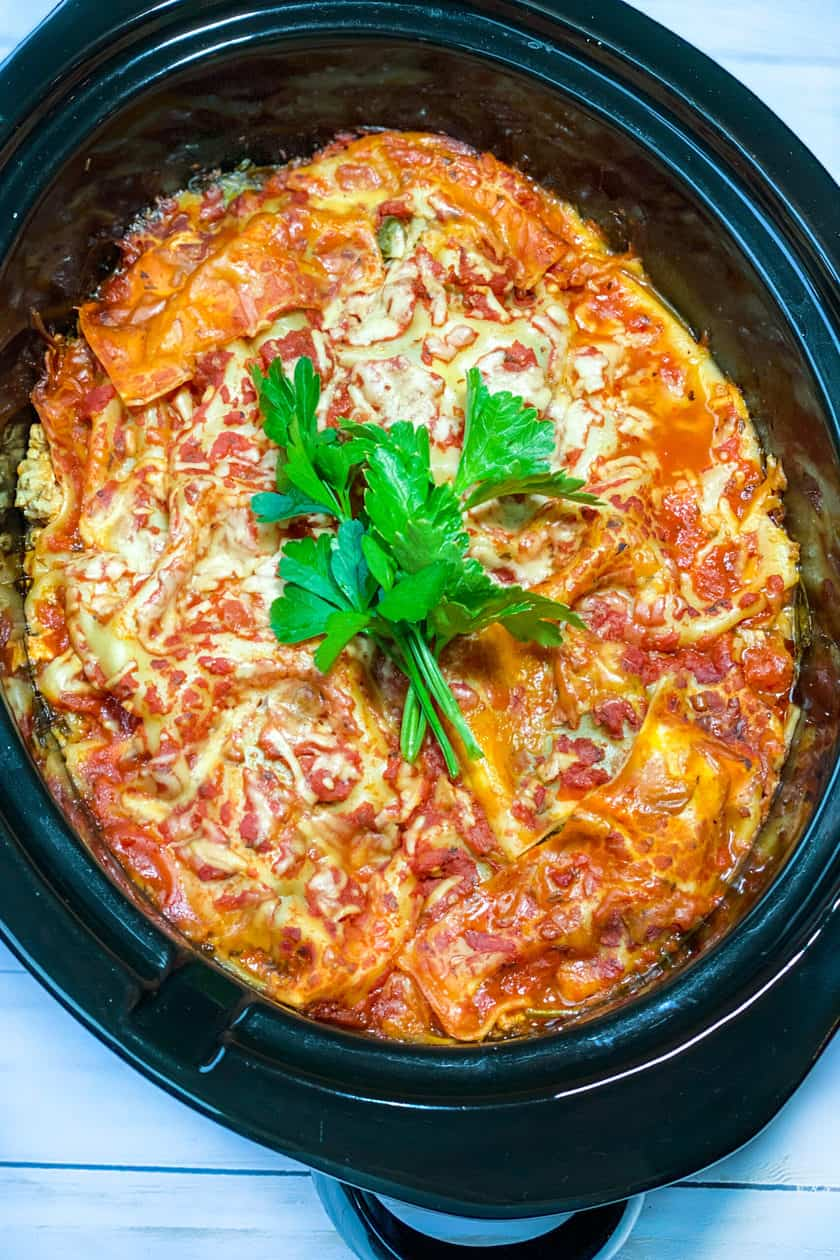 Cooked Easy Slow Cooker Lasagna