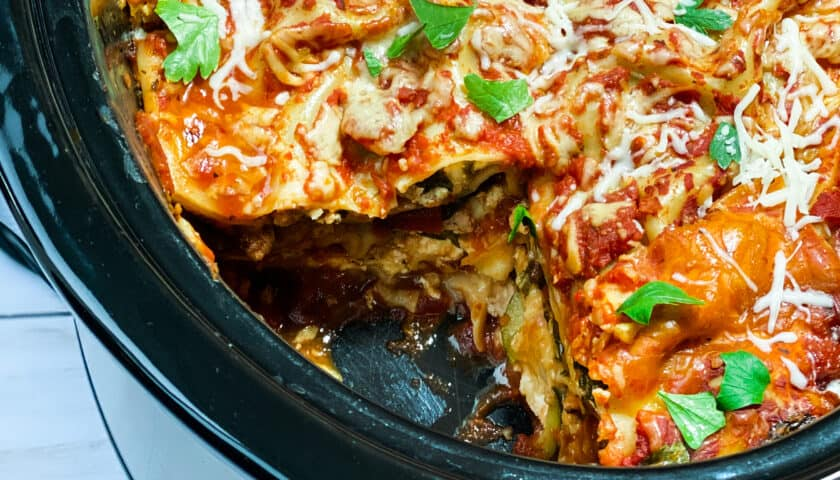 Easy Slow Cooker Lasagne