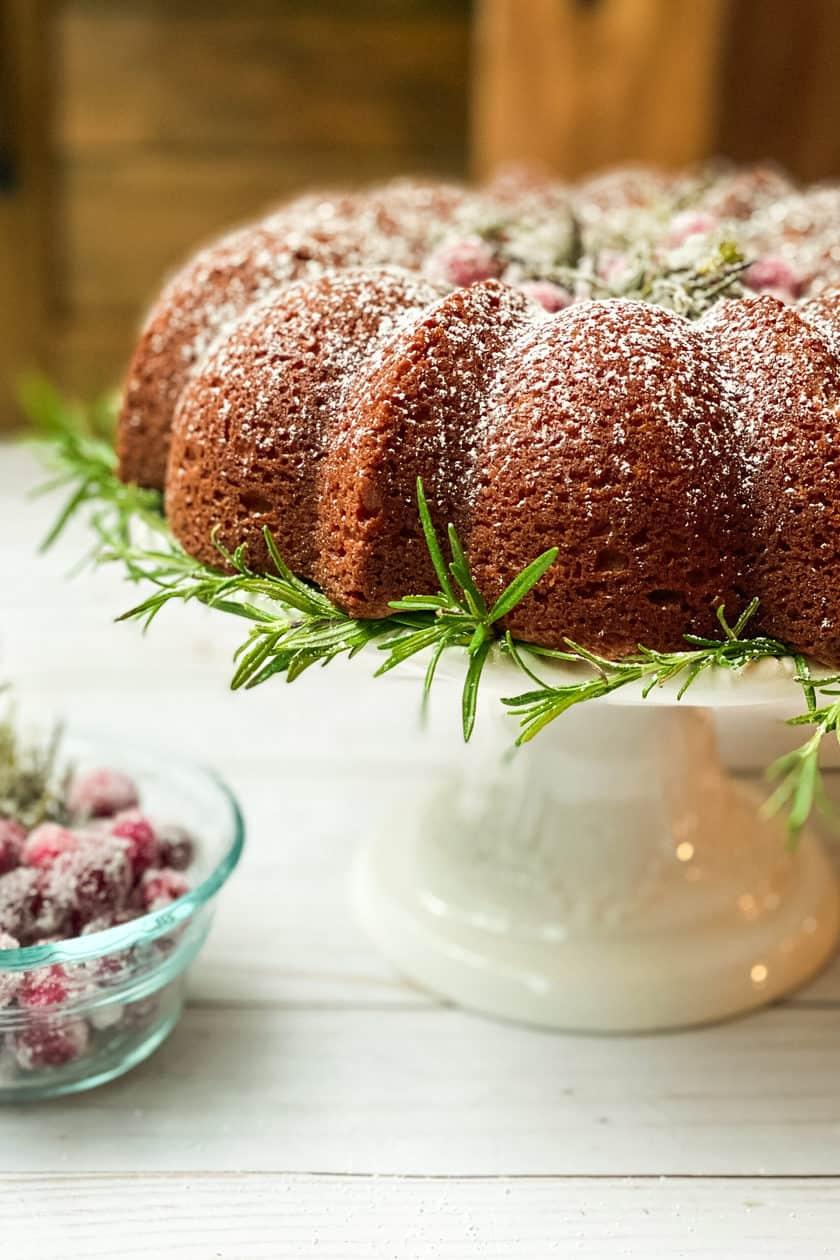 Closeup view of Spiced Christmas Cake