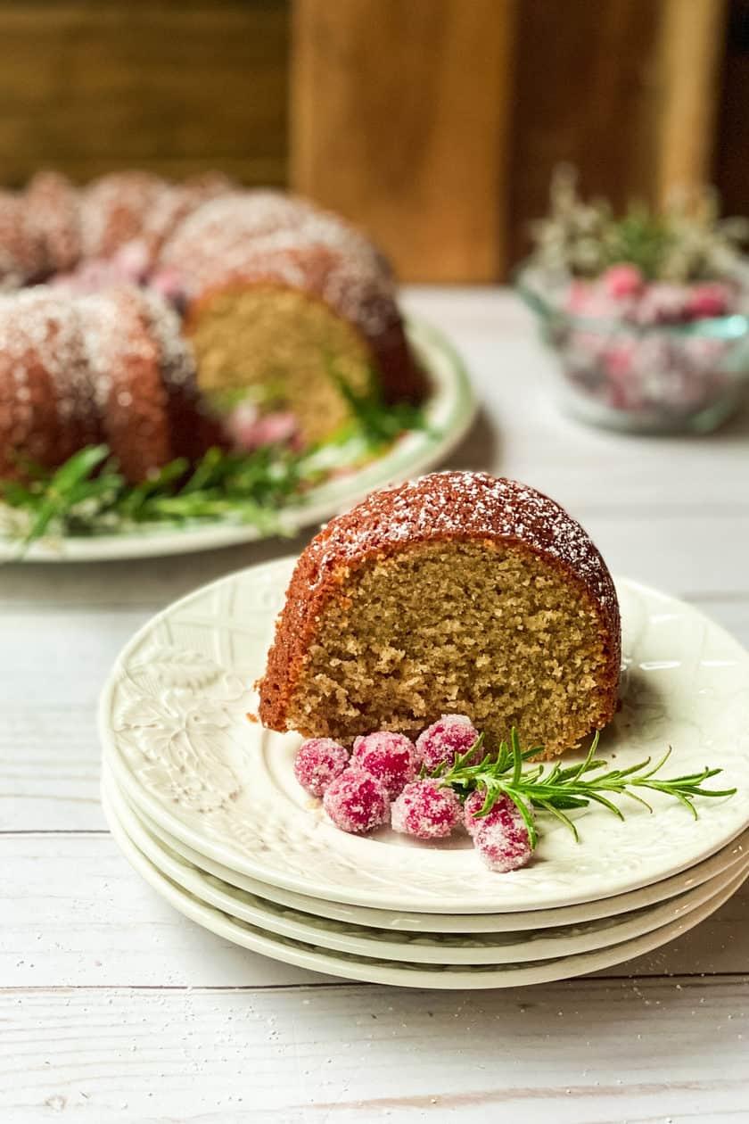 A slice of Spiced Christmas Cake