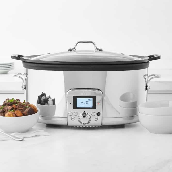 All-Clad Gourmet Plus Slow Cooker with All-In One Browning, 7-Qt.