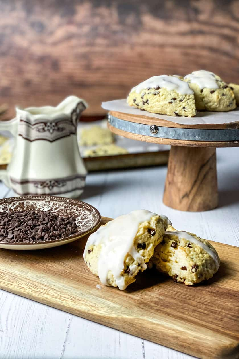 Wide view of Chocolate Chip Scones