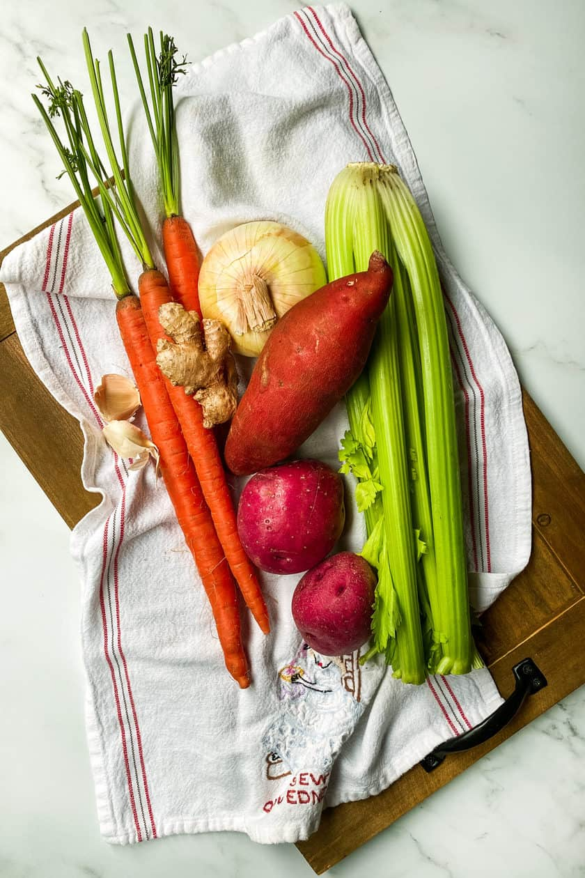 Ingredients for Easy Creamy Root Vegetable Soup