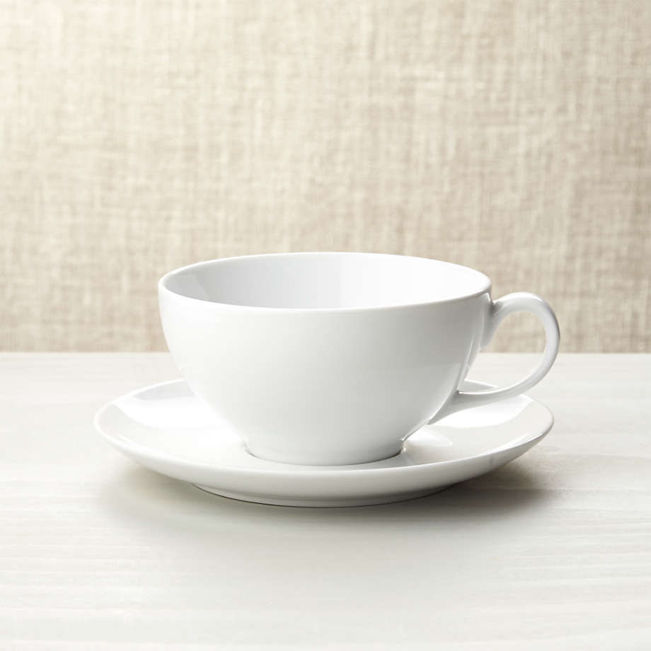 Cappuccino Cup with Saucer + Reviews | Crate and Barrel