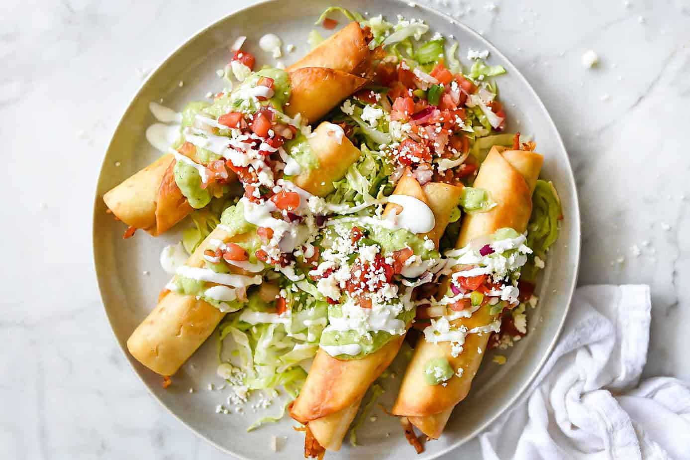 Chicken Tacquitos for Healthy 5 Ingredient Dinners: What to Cook (Jan 25)