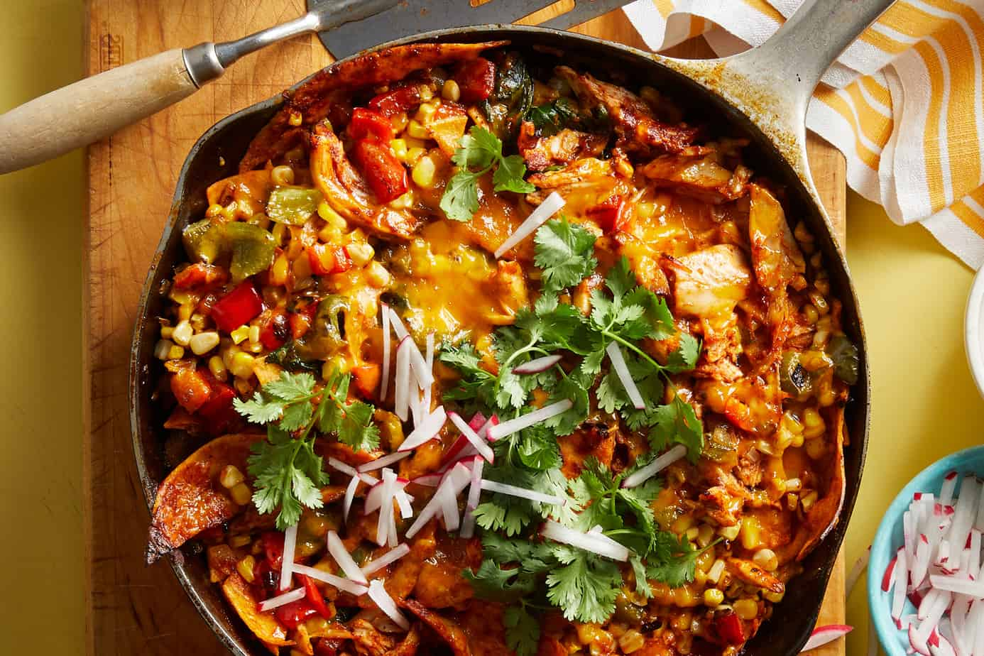 Enchilada Casserole in a Cast Iron Skillet for Healthy 5 Country Dinners: What to Cook (Feb 1)