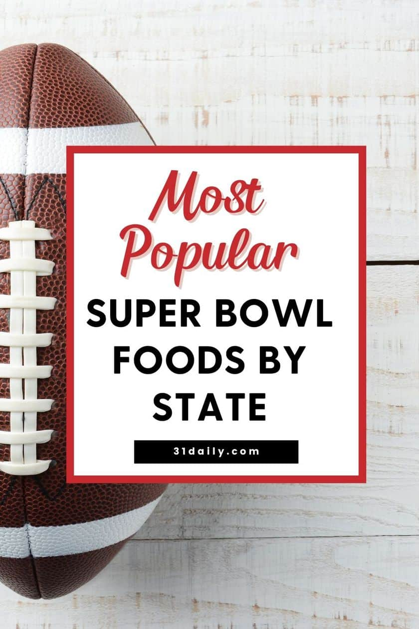 Pinterest Pin for Most Popular Super Bowl Foods by State