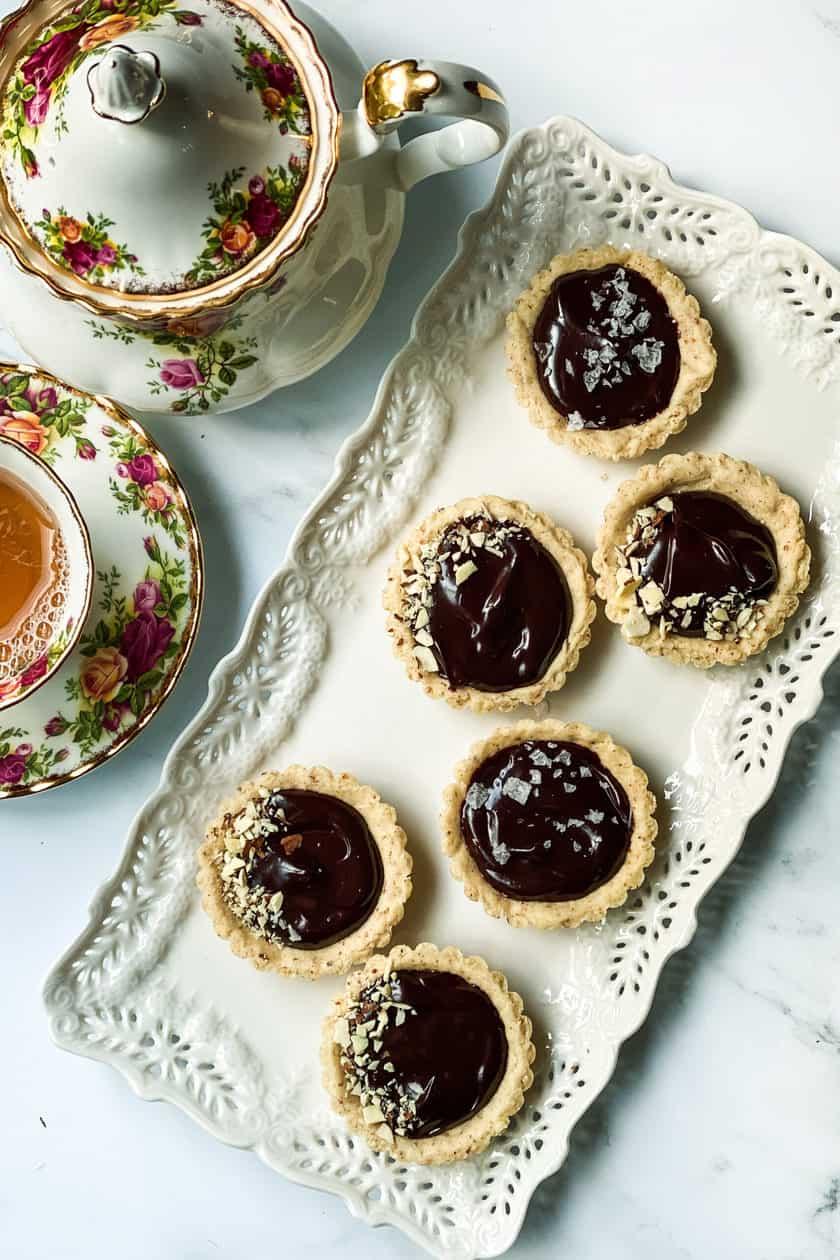 Chocolate Ganache Mini Tarts with Afternoon Tea