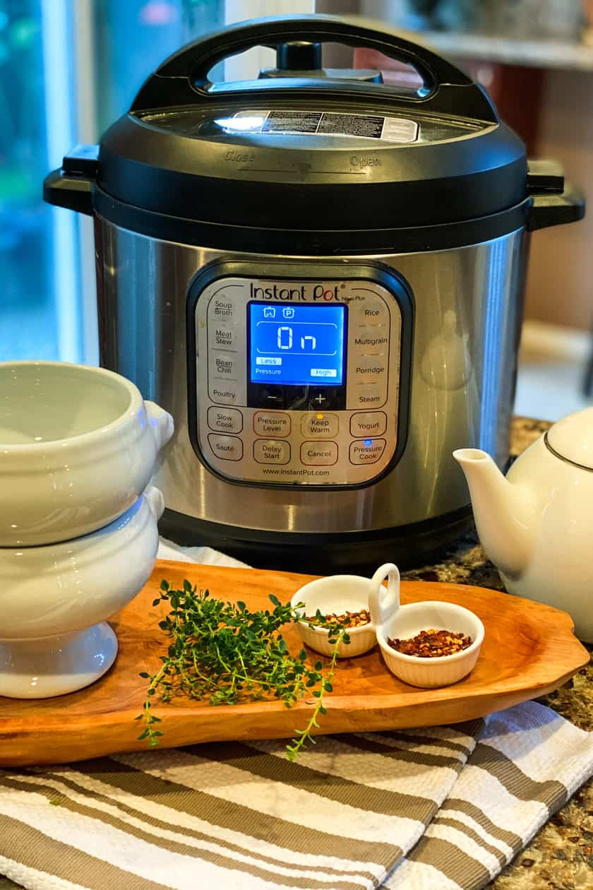 Instant Pot with 2 bowls ready for lunch.
